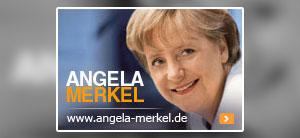 Homepage von Angela Merkel