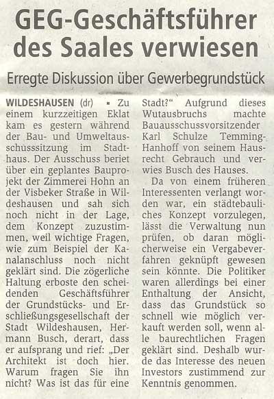 GEG - Geschäftsführer des Saales verwiesenErregte Diskussion über GewerbegrundstückArtikel vom 20.08.2010 (WZ)